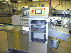 Semi-Automatic Inline Food Tray Sealing Machine